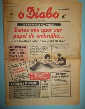 3 Jornais antigos O Diabo - O Comércio do Porto - Primeiro de Janeiro