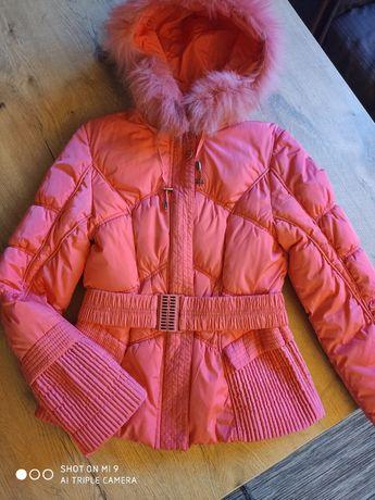 Energetyczna kurtka zimowa - 38/40, jak nowa. Śliczności!