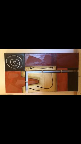 Quadro Tela abstrato, 150x80 cm na horizontal ou 80x150cm na vertical