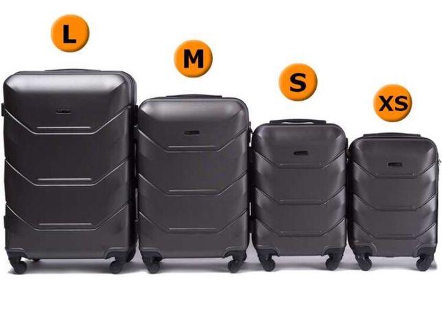 Чемодан Пластиковый удобный дорожный чемодан 147 Графіт