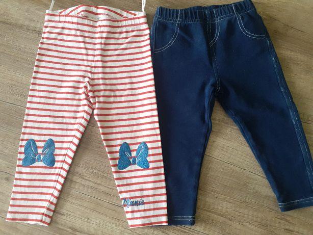 Spodnie dla dziewczynki, 2 pary rozmiar 80/86