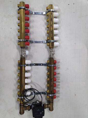 rozdzielacz mieszający 14 sekcji (7+7) ogrzewanie centralne