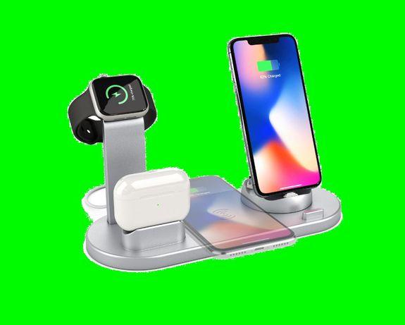 Ładowarka biurowa indukcyjna Iphone Samsung Smartwatch stacja dokująca