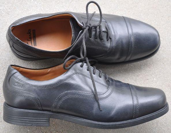 CLARKS R.41 skórzane półbuty, eleganckie buty, pantofle- J. Ecco