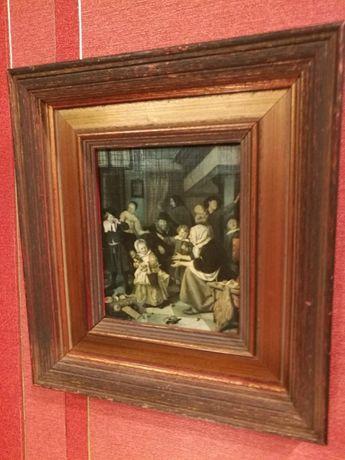 """Obraz ,reprodukcja obrazu""""Dzień św.Mikołaja"""" z 1665r"""
