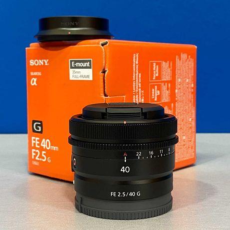 Sony FE 40mm f/2.5 G (NOVA - 2 ANOS DE GARANTIA)