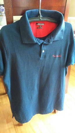 Koszulka bawełniana polo XL Pierre Cardin ,polówka granat młodzieżowa