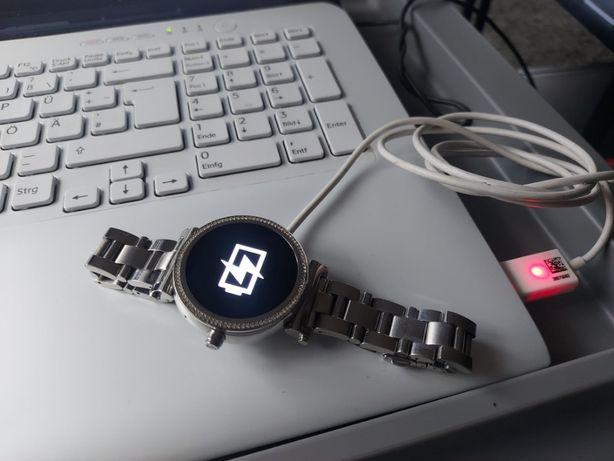 Smartwatch unikat MICHAEL KORS Srebrny plus Brylanty