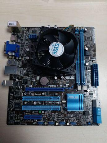Комплект Asus P8H67-M LE+Intel I5 3470 3.2Ghz+Cooler