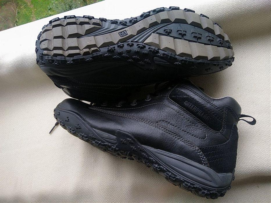 Ботинки CAT Caterpillar 44-45р Оригинал черные кожаные Timberland Киев - изображение 1