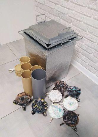 ВОСКОТОПКА + формы для свечей 5 шт, кованый подсвечник 8 шт + подарок
