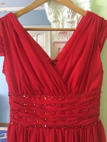 Красное платье размер S-M