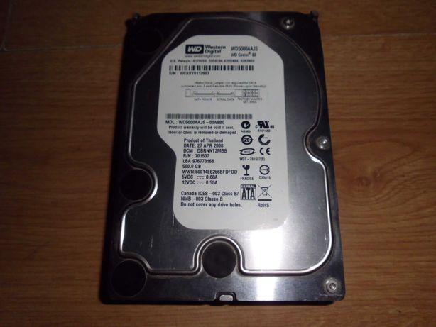 """dysk HDD 3,5 """" 500 GB Żywotność i sprawność 100%"""
