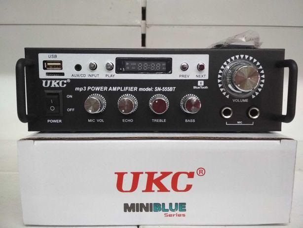 Мощный усилитель звука SN-555ВT,120Вт,МР3,караоке, блютуз, FM, USB, SD