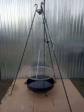 Grill trójnóg // ruszt nierdzewny, chromowany