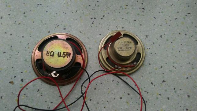 Głośniczki różnej mocy