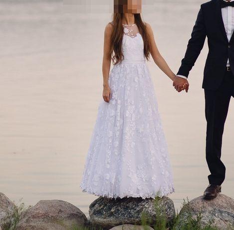 Unikalna suknia ślubna, komunia, własny projekt