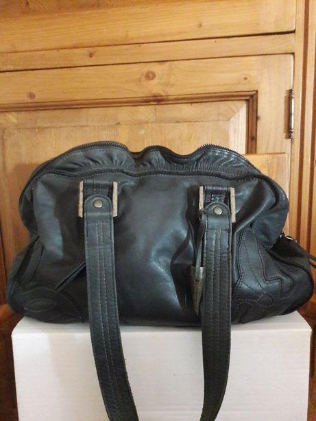 Unikat - ADAX duńska cudna torebka premium/torba skóra natural grafit