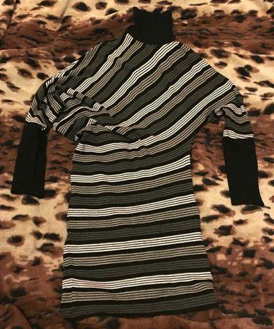 Тёплое платье на зиму