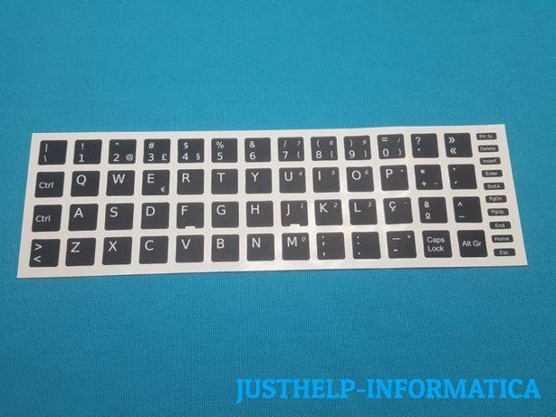 Autocolantes para Teclado Portátil Notebook e Desktop PT 14mm x 14mm
