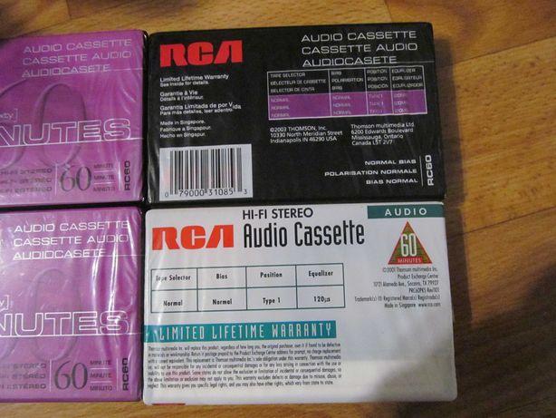 Аудіокасети запаковані RCA 90 i 60 хв