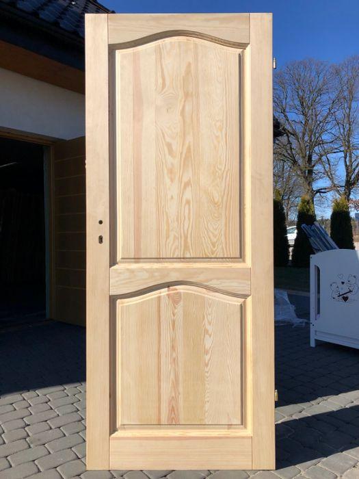 Drzwi drewniane sosnowe bezsęczne wewnętrzne Grzybno - image 1