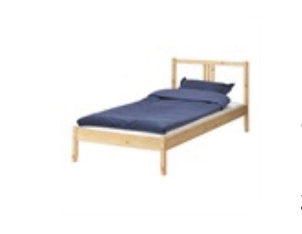Łóżko Ikea sosna drewniane 90 student działka dom