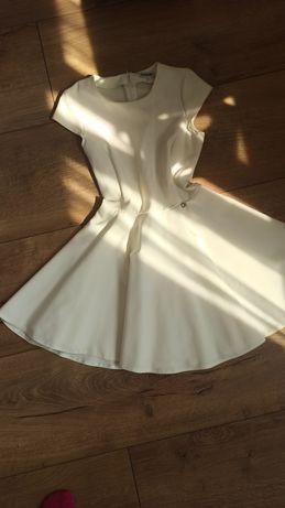 Sukienka ecru XS elegancka