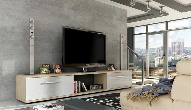 SZAFKA RTV komoda tv połysk do salonu pokoju