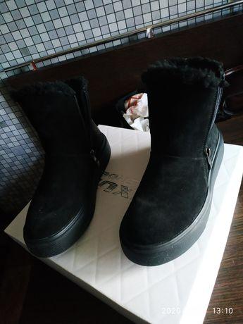 Ботинки,зима,замш