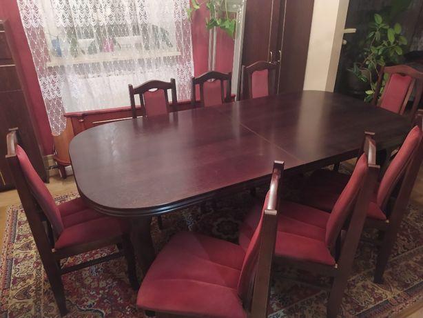 Stół do jadalni + 8 krzeseł