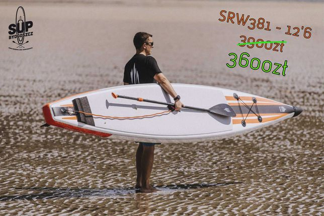 PROMOCJA - Deska SUP Shark SUP Race 12'6 [SRW-381]