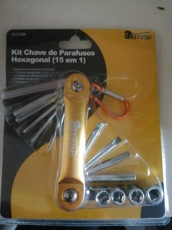 Kit Chave Parafusos Hexagonal