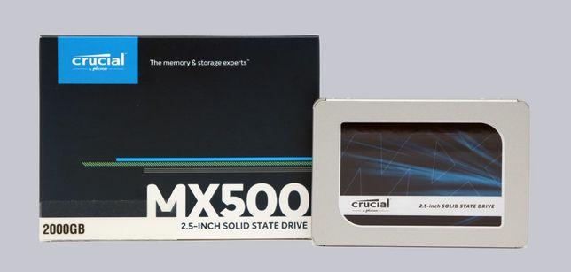 """SSD накопитель Crucial MX500 2TB 2.5"""" SATAIII 3D TLC (CT2000MX500SSD1)"""