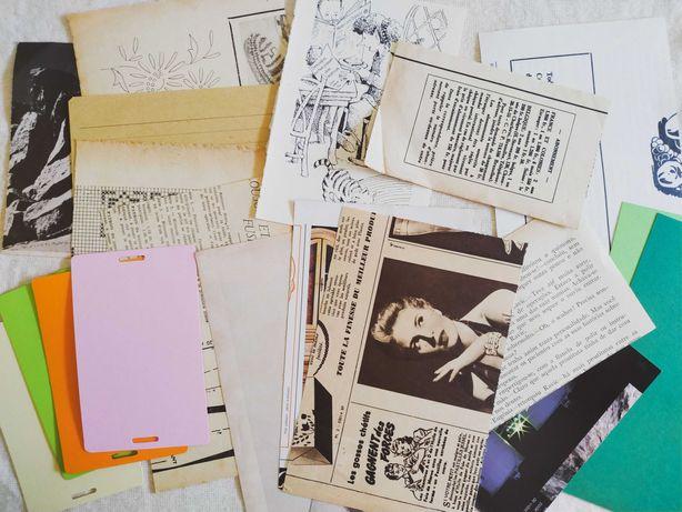 Pack Papel Variado: Revistas e Livros Vintage, Kraft, Papel Colorido