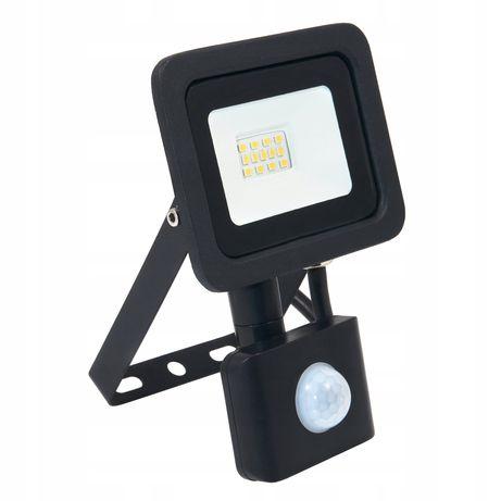 Naświetlacz halogen LED 10W z czujnik PREMIUM 0200 zimna neutralna
