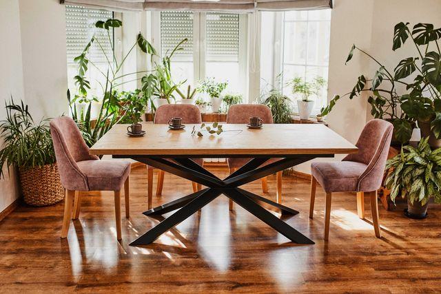 Stół dębowy rozkładany nowoczesny Lite drewno dębowe LOFT industrial