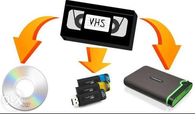 Оцифровка видео, аудиокассет,скан фото (запись на диск, флешку,cloud)