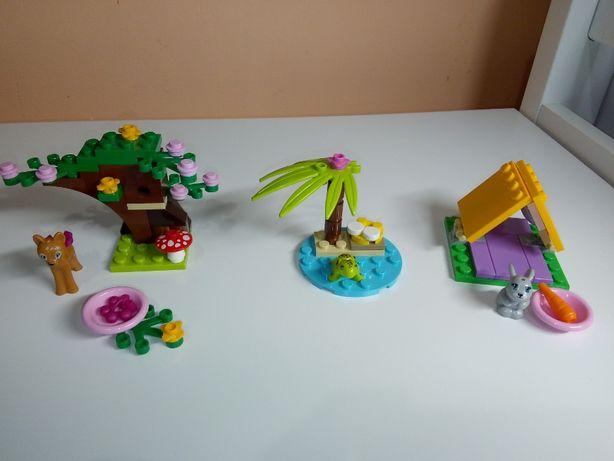 lego friends zwierzęta przyjaciele 41003, 41023 jelonek żółw królik