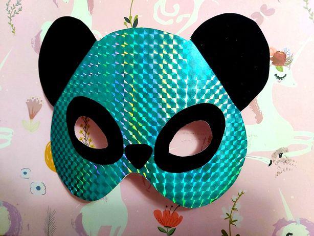 Maska mis dla dzieci własnoręcznie robiona