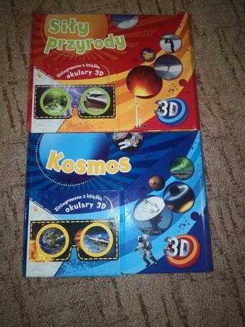 Książka lektura siły przyrody, kosmos 3D *cena za komplet *
