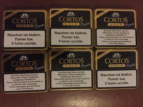 Сигаретная металлическая коробка, портсигар сortos gold Швейцария