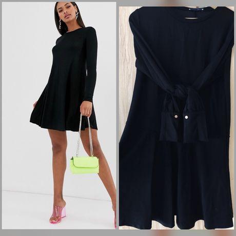 Czarna prosta sukienka Zara r.M/L