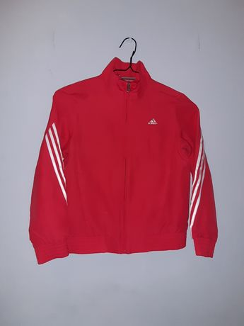 Malinowa bluza Adidas r.140