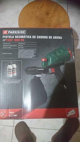Pistola de Jacto de Areia de Ar Comprimido Parkside NOVO