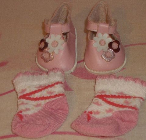 Baby Born orginalne buciki skorzane dla lalki 43 cm