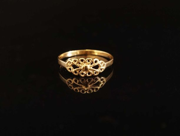 Złoto 585 - złoty pierścionek rozmiar 13