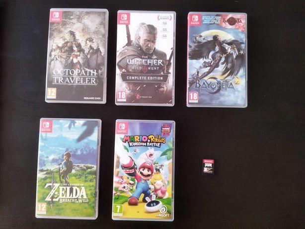 Conjunto jogos Nintendo Switch