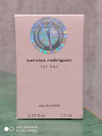 Туалетная вода Narciso Rodriguez for her 7.5 мл  новые