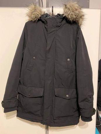 Czarna kurtka zimowa parka H&M